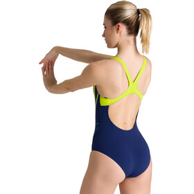 arena Shiner Swim Pro Back One Piece Badeanzug Damen navy/soft green